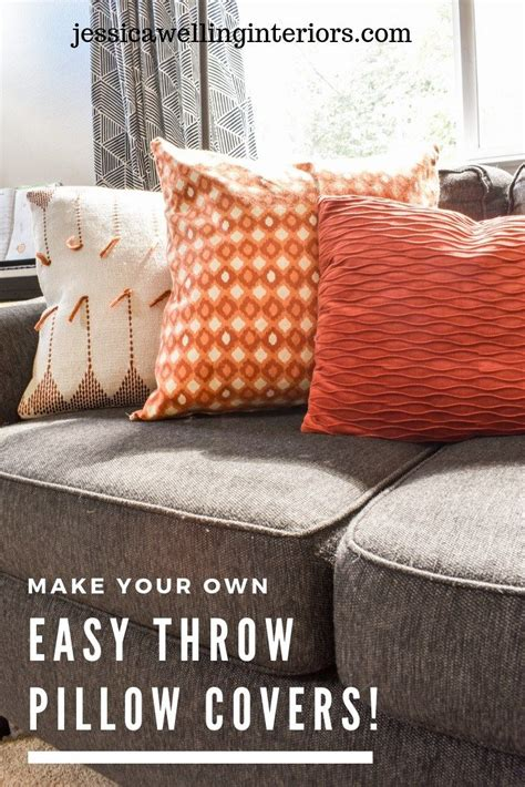 How To Make Living Room Pillows by Make Your Own Easy Throw Pillow Covers Diy Board