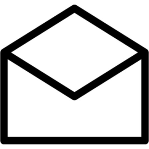 white mail icon vector png e mail vector clipart best