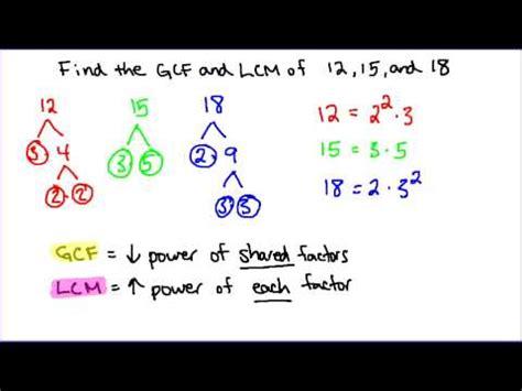 gcf  lcm   numbers youtube