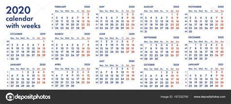 calendario semanas