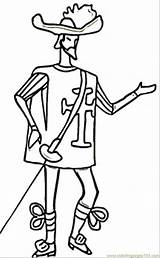 Skinny Coloring Musketeer France Clipart British Soldier Cliparts Thin Colouring Line Coloringpages101 Template Library sketch template