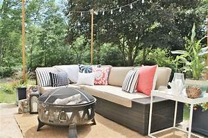 Diy outdoor light poles city farmhouse for Outdoor sectional sofa lowes