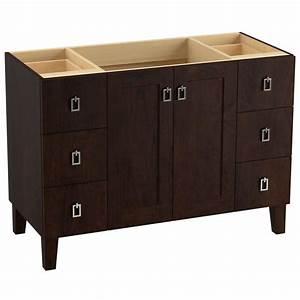 KOHLER Poplin 48 In Vanity Cabinet In Claret Suede K