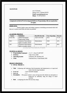 resume template simple format in word 4 file intended doc
