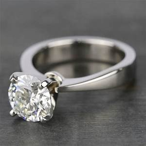 Taper Solitaire Engagement Ring With 2 Carat Diamond