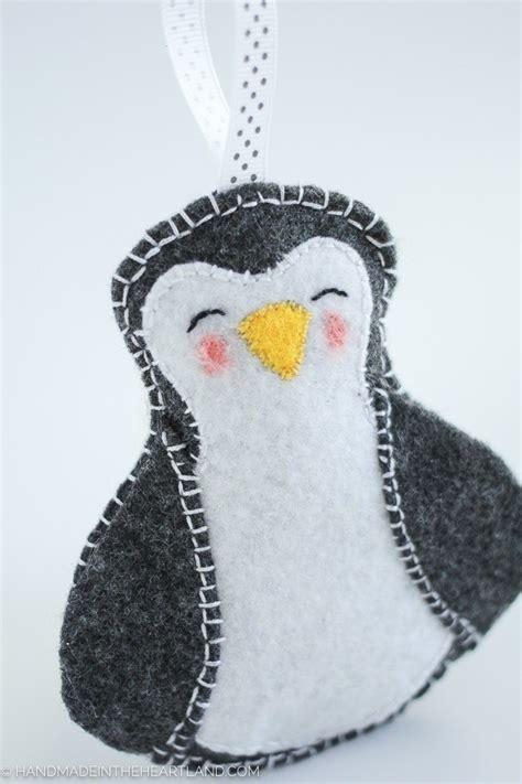 pattern felt penguin christmas ornament sewing