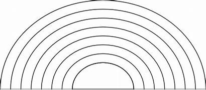 Rainbow Coloring Pages Rainbows Clip Clipart Days