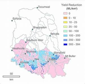 Maximum Reduction In Water Yield Or Stream Flow If All