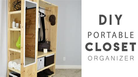 diy portable closet organizer youtube