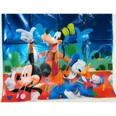 mickey mouse clubhouse table cover party supplies tablecovers centerpieces on pinterest