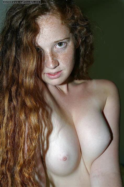 Shy Teen Rachel With Flowing Red Hair Upstairs And Down