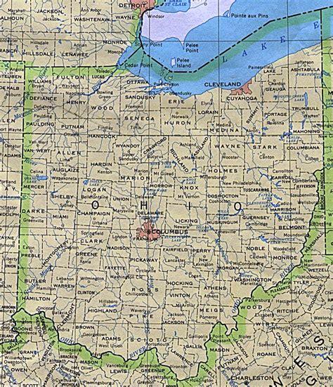 ohio maps  information