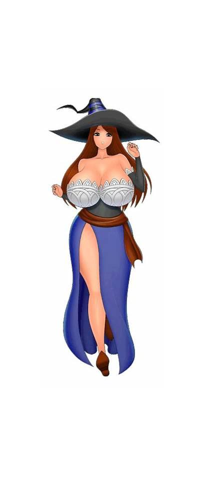 Crown Sorceress Characters Running Dragon Cartoon Animated