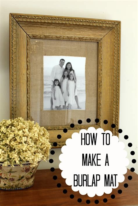 how to mat a print how to make a burlap mat for a picture daisymaebelle