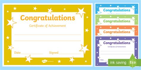 printable congratulations certificate template