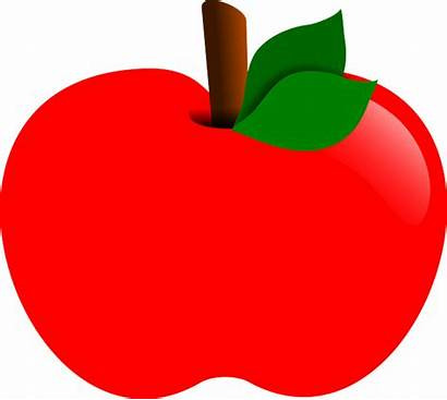 Apple Clipart Drawing Fruit Pixabay Healthy Graphic