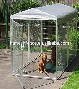 Logam yang ramah besar kandang anjing kandang anjing for Dog run cage enclosure