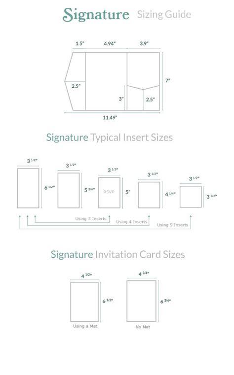 invitation size guide   wedding invitation kits