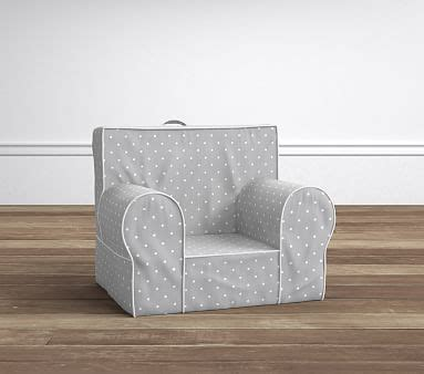 anywhere chair slipcover only pottery gray pin dot my anywhere chair slipcover only