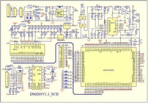 portable oscilloscope base  stm opensource