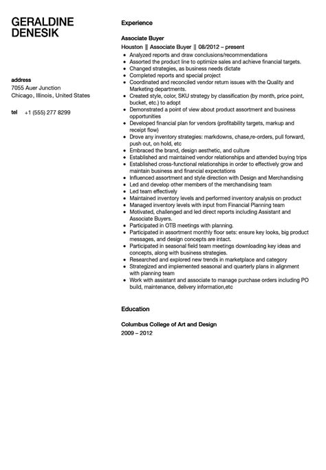 Associate Buyer Resume Objective by Buyer Resume Objective
