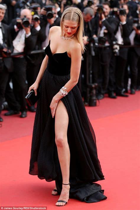 Malfunction Wardrobe Photos by Toni Garrn Risks A Wardrobe Malfunction At Cannes