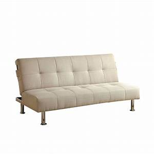 furniture of america hallas linen sleeper sofa bed in With ivory sofa bed