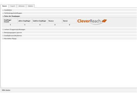 Oxid Modul Cleverreach, Anbindung An E-mail Marketing