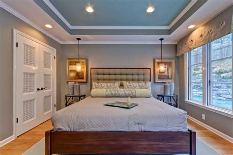 lighting tray ceiling dining room contemporary with pendant lighting white shade