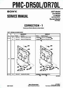 Sony Pmc-dr50l  Pmc-dr70l Service Manual