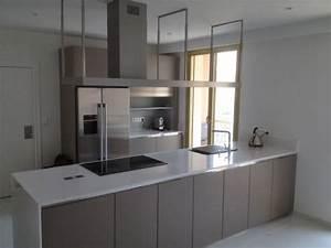 frigo americain dans cuisine equipee 2 cuisine moderne With frigo americain dans cuisine equipee