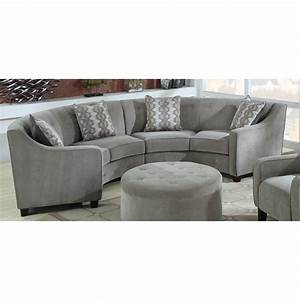 half moon shaped sofas catosferanet With half sofa half bed