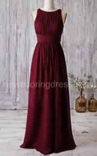 burgundy wedding dresses best 25 burgundy bridesmaid dresses ideas on