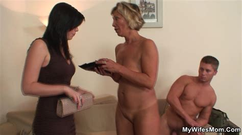 Young Man Is Fucking His Mother In Law When His Wife Walks
