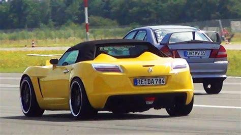 Opel Gt Roadster Cabrio Vs Mitsubishi Lancer Evolution 1/4