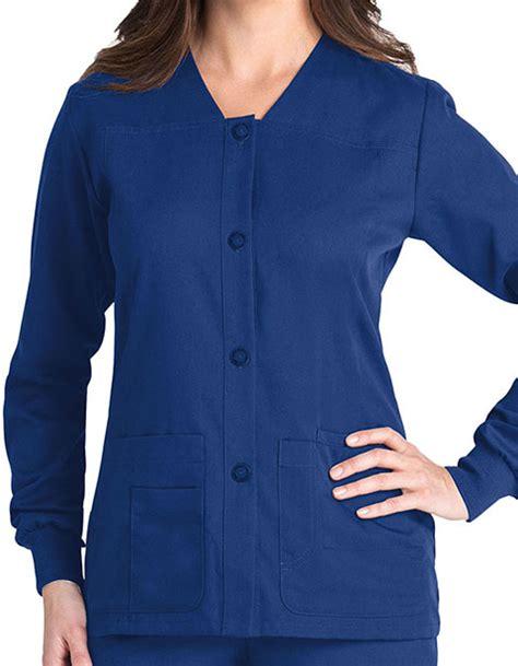 Greys Anatomy Ceil Blue Scrub Jacket by Grey S Anatomy 4 Pocket Sporty Warm Up Scrub Jacket For