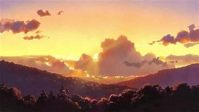 Sunset Anime Scenery Sky Landscape Cielo Wolf