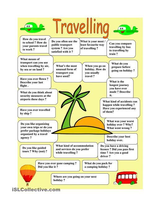 travelling speaking  images speaking activities