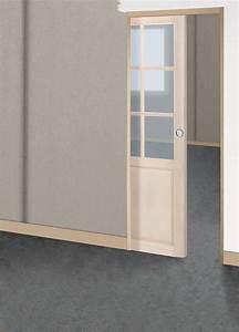 Porte Coulissante A Galandage : ch ssis galandage pour porte coulissante l73cm bricoman ~ Dailycaller-alerts.com Idées de Décoration