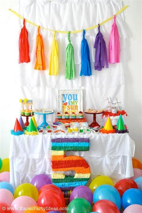 kara 39 s party ideas rainbow themed birthday party rainbow themed birthday party kara 39 s party ideas shop