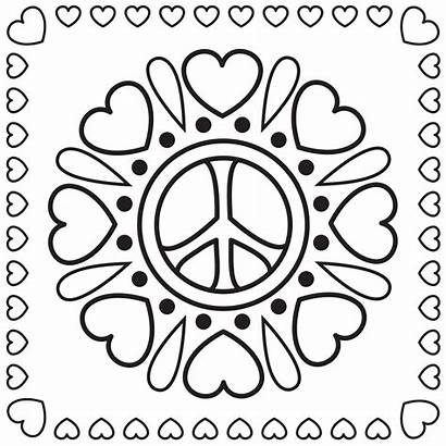 Peace Coloring Pages Sign Adults Printable Getcoloringpages