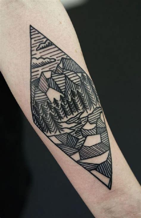 geometric landscape tattoo  philip yarnell