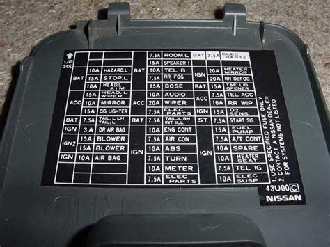 04 Nissan Maxima Fuse Box Diagram by Need Photo Of Fuse Box Diagram For 99 Maxima Forums