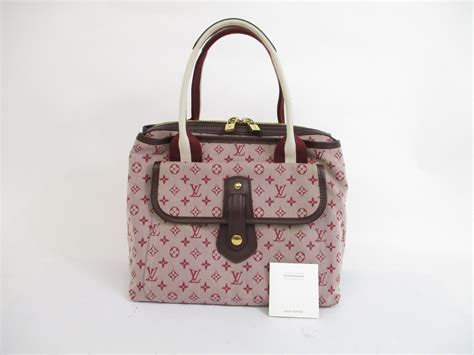 louis vuitton monogram mini canvas red hand bag purse sac