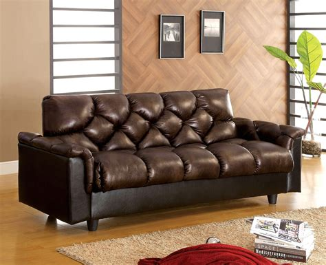 Bowie Contemporary Dark Brown Sofa Set With Leather Like