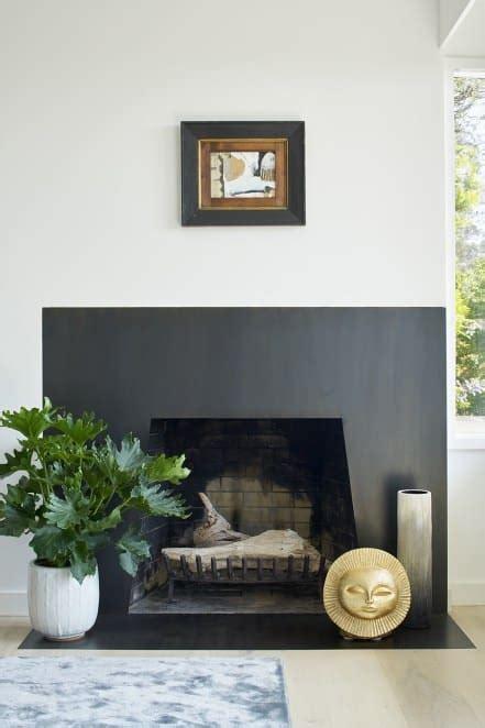 california mid century modern   foot fireplace