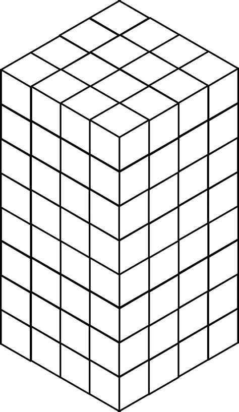 stacked congruent cubes clipart