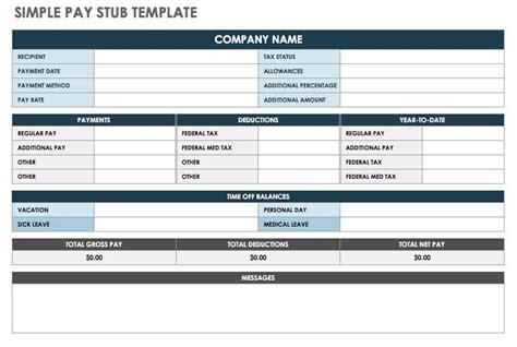 pay stub templates smartsheet