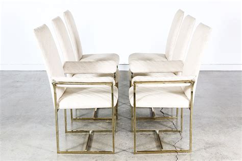 milo baughman style brass dining chairs vintage supply store