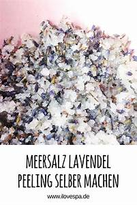 Naturkosmetik Selber Machen Blog : diy meersalz lavendel peeling auf i love spa wellness blog geschenke peeling peeling selber ~ Orissabook.com Haus und Dekorationen
